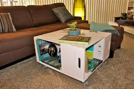 Living Room Table Sets With Storage by Painted Crate Coffee Table Coffee Tables Pinterest Crates