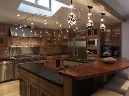 kitchen square track lighting vaulted ceiling framing details