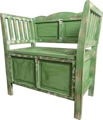 casa padrino landhausstil shabby chic sitzbank mit stauraum antik grün braun weiß 80 x 44 x h 80 cm landhausstil möbel