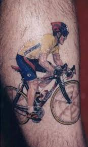 Animated Rider On Bicycle Tattoo For Men Arm