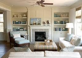 family room fireplace tv built in shelving shelving display