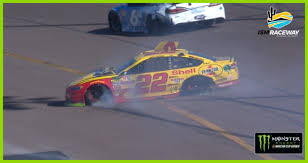 100 Monster Truck Phoenix Joey Logano Spins At Ending His Day NASCARcom