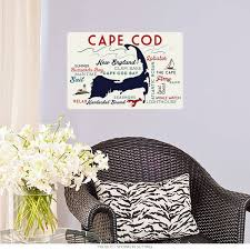 Cape Cod Massachusetts Word Map Wall Decal 60679