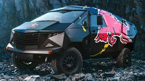 100 Redbull Truck Red Bull Defenderbased Armoured Party Truck Debuts