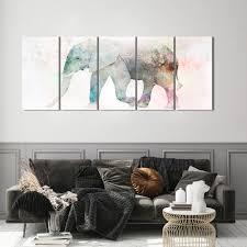 dekoration tiere leinwand deko bild wand bilder aquarell