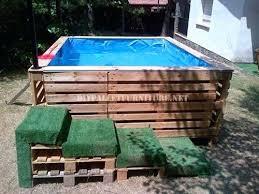 Diy Pool Ideas Deep Pallet Wood Deck Designs