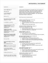 Examples For Licensed Vocational Nurses Nurse Inspirational Fresh New Grad Nursing Resume