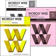 Item 7 Wordly Wise 3000 Grade 11 Set Student Answer Key Tests 3rd Ed