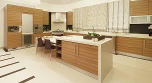 Modern Kitchen Design With Brown Cabinets Cupboards