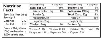 Larabar Nutrition Facts For Cashew Cookie