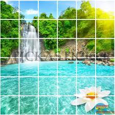 stickers carrelage salle de bain sticker carrelage cuisine salle de bain cascade paradisiaque ma