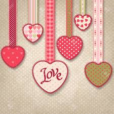 HD Image Of Retro Background Vintage Design With Hearts Royalty Free Cliparts