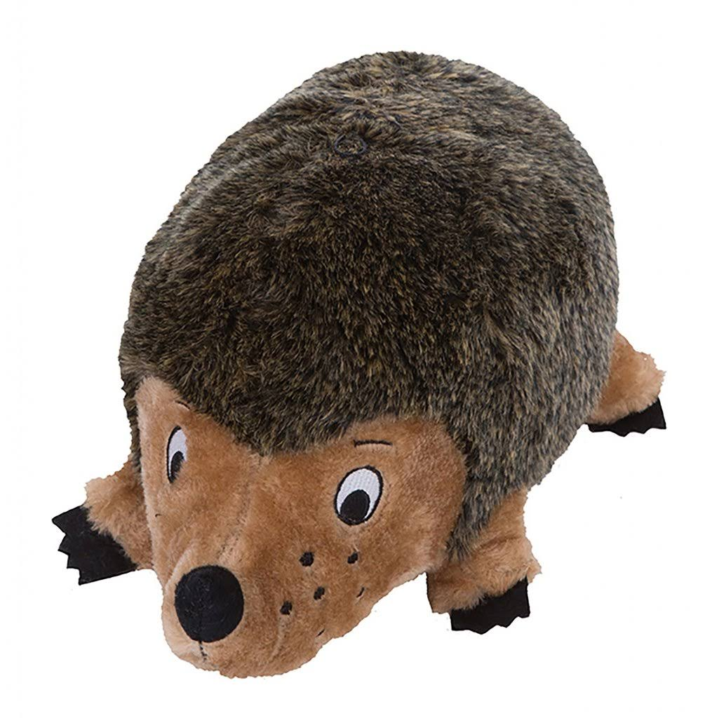 Outward Hound Kyjen Hedgehogz Dog Toys Plush Rattle Grunt and Squeak Toy