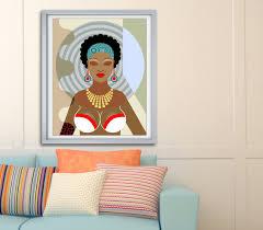 Black Queen Girls Rock Magic Natural Hair Art Dope Woman African American