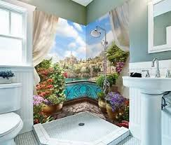 details zu 3d balkon haus tapete badezimmer drucken abziehbild mauer deco aj wallpaper de