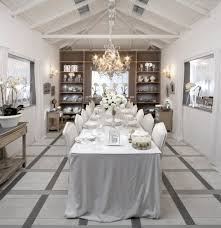 Cool Patterns To Paint Shabby Chic Style Dining Room With Vaulted Ceiling In United States