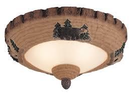 mc102 l light kit wilderness lodge pine bowl weathered iron