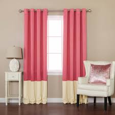 White Blackout Curtains Kohls by Curtains Light Blocking Curtains With Red Curtain And White Sofa