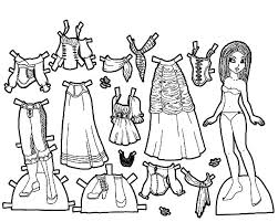Gypsy Rose Doll Dress Colouring Page