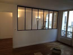 verrière pour séparer une chambre et un salon