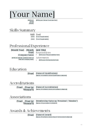 Example Of A Simple Resume Examples Template Word Basic Resumes