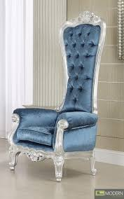 style high back royal throne accent armchair