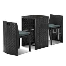 Gardeon 3 Piece PE Wicker Outdoor Table And Chair Set - Black European Style Cast Alinum Outdoor 3 Pieces Table And Chairs Piece Tasha Accent Side Set The Brick Zachary 3piece Occasional By Crown Mark Fniture Amazoncom Winsome Wood 94386 Halo Back Stool Kitchen Ding Sets Piece Table Sets Coaster Sam Levitz Obsidian Pub Chair Gardeon Wooden Beach Ffbeach Winners Only Broadway With Slat Tms Bistro Walmartcom 3piece Drop Leaf Beige Natural Bernards Ridgewood Dropleaf Counter Wayside