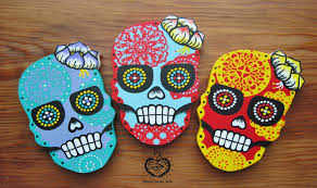 Mexican Paper Cut Or Papel Picado Sugar Skulls