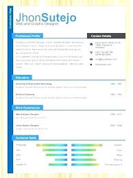 One Page Resume Website Template Free Download Single 1 Templates Professional Online