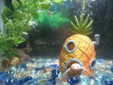 Spongebob Aquarium Decorating Kit by Spongebob Squarepants Fish Tank Flying Fish 1001