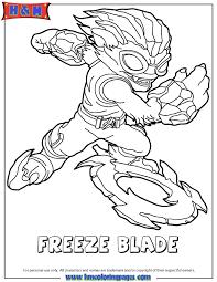Skylanders Swap Force Water Freeze Blade Coloring Page