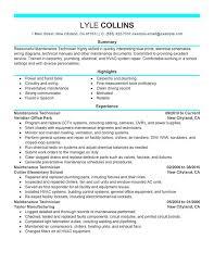 General Maintenance New Sample Resume Best Rh Echristianlouboutinoutlet Com Technician Manufacturing