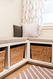 Build An L-shaped Bench To Maximize Seating And Storage In A Tight ... Banquette Fniture With Storage Bench Built In Kitchen Corner Booth Seating Ana White Diy Projects Noble Build A Also Remodelaholic Ding Tables Fabulous Round How To Window Seat With To A Custom Diy Entryway Ideas Charming 81 Ikea