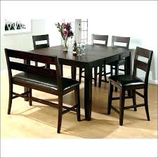 Rustic Bar Height Table Counter Set Dining