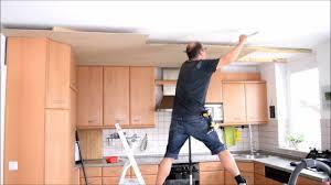 projekt küche renovieren decke umgestalten teil 1