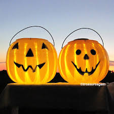 Halloween Pathway Lights Stakes by Outdoor Pumpkin Halloween Lights 2 Faces Pumpkin Solar Lights