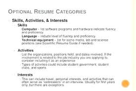 Personal Interests On Resume Examples List Of Interest For Activities Ideas In