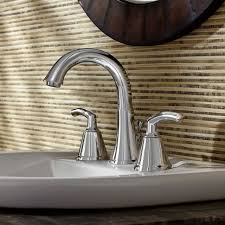 Fluid Faucets Single Lever by Tropic 2 Handle 8 Inch Widespread High Arc Bathroom Faucet