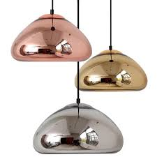 void copper messing schüssel theke pendelleuchte spiegelglas bar kunst pendelleuchte moderne esszimmer draht hängen beleuchtung