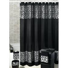 Black And White Flower Shower Curtain by Black White And Red Shower Curtain Home Design Ideas Black