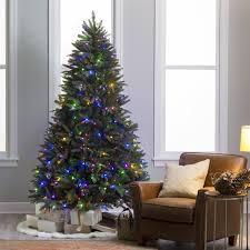 5ft Pre Lit White Christmas Tree by 7 5 Ft Natural Cut Pre Lit Led Dakota Pine Christmas Tree With
