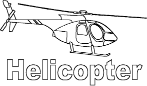 Helicopter Police Colouring Pages