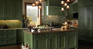 Rustic Green Kitchen Cabinets Distressed Mountain Retreat Contemporary
