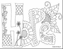 Marvelous Hope Doodle Art Coloring Pages With Quote And For Adults