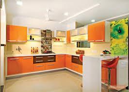 Orange Laminate Kitchen Cabinet