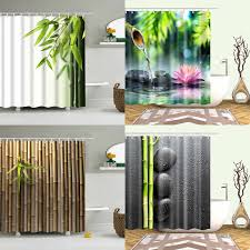 grüne pflanze dusche vorhang bambus wasserdicht grün dusche
