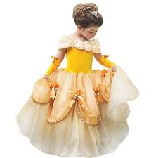 Amazoncom Belle Costumes Dress Up Party Girls Princess Cosplay
