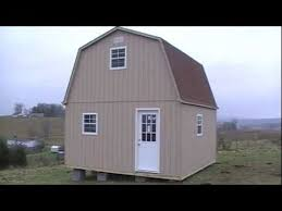 Gambrel Shed Plans 16x20 by 2 Story Barn Cabin Shed Youtube