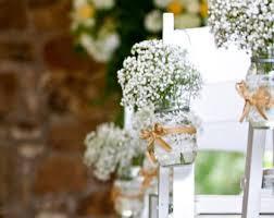 Set Of 20 Vintage Inspired Mason Jar Vases For Wedding Ceremony Aisle Rustic