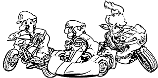 Mario Kart Coloring Pages Luigi Peach